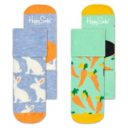 Babies Two-Pack Bunny Socks