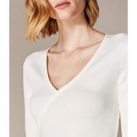 Wrap-Front Jersey Top