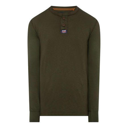 Notch Neck Long Sleeve T-Shirt