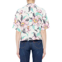 Floral Shirt Crop Top
