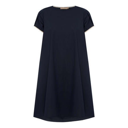 Pleated Contrast Dress