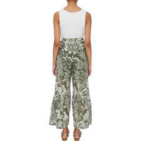 Printed Wide Fit Trousers