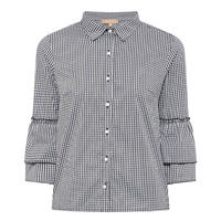 Frilled Gingham Blouse