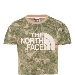 Girls Camouflage Crop T-Shirt