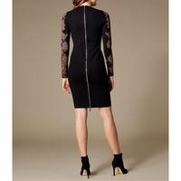 Snakeskin-Print Sleeve Dress