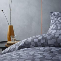 Cottonsoft Brushstrokes Oxford Pillowcase Grey
