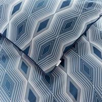 Cottonsoft Ziggurat Duvet Set Blue