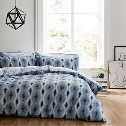 Cottonsoft Ziggurat Duvet Set Blue