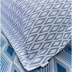 Cottonsoft Ziggurat Oxford Pillowcase Blue