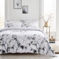 Cottonsoft Kyoto Duvet Set White/Grey