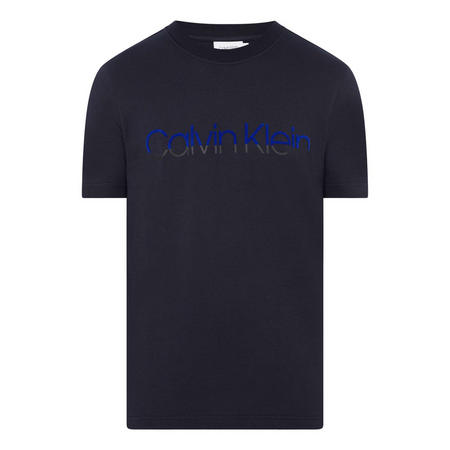 Flock Logo Crew Neck T-Shirt