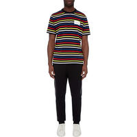 Logo Striped Crew Neck T-Shirt