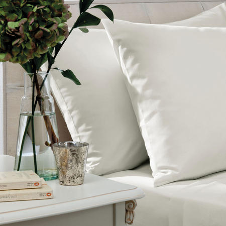 200 Thread Count Combed Cotton Percale Flat Sheet Cream