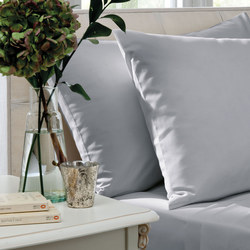 200 Thread Count Combed Cotton Percale Flat Sheet Grey