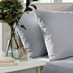 200 Thread Count Combed Cotton Percale Pillowcase Pair Grey
