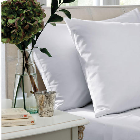200 Thread Count Combed Cotton Percale Fitted Sheet White