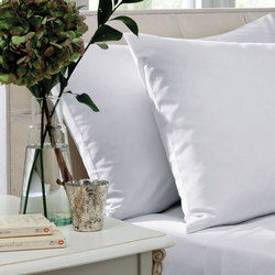 200 Thread Count Combed Cotton Percale Coordinated Bedding White