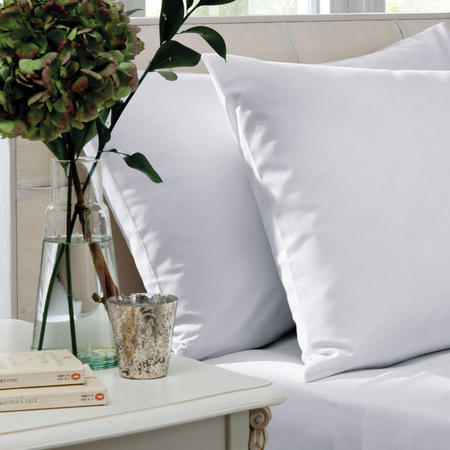 200 Thread Count Combed Cotton Percale Flat Sheet White