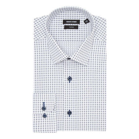 Grid Check Tapered Fit Shirt