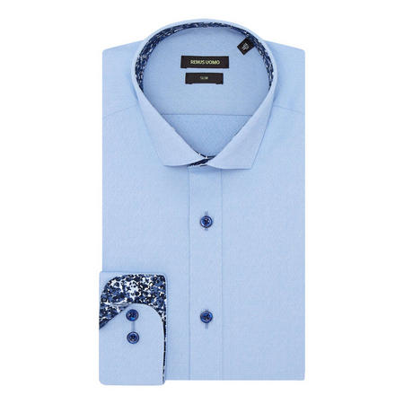Solid Trim Slim Fit Shirt