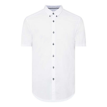Contrast Trim Slim-Fit Shirt