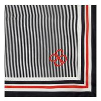 Dot Stripe Square Scarf