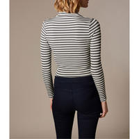 Striped Funnel Neck Top