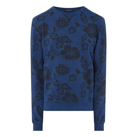 Hibiscus Print Sweat Top