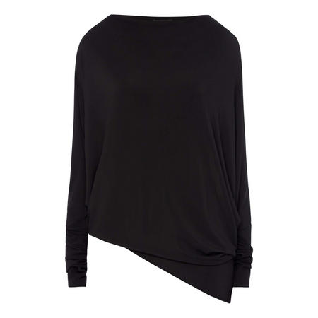 Cropped Batwing Blouse