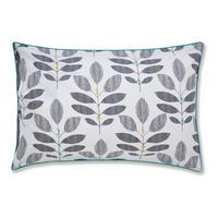 Leaf Duvet Set Grey