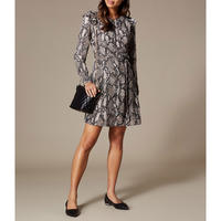 Snakeskin Print Mini Dress