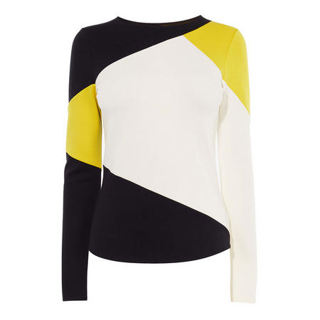 Colourblock Slim-Fit Top