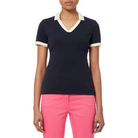 Contrast Trim Polo T-Shirt