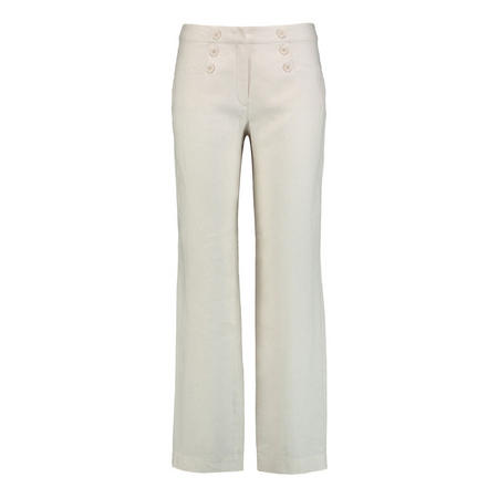 Straight Leg Buttoned Trousers