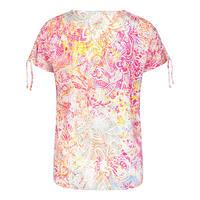 Multi-Print Drawstring T-Shirt