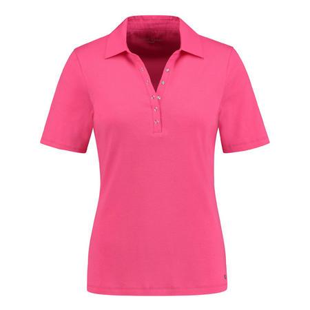 Snap Button Polo Shirt