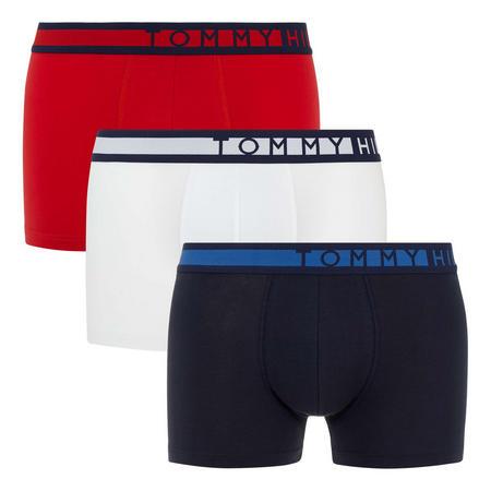Three-Pack Logo Stripe Boxers