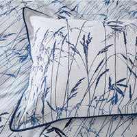 Blowing Grasses Oxford Pillowcase Blue