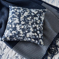 Blowing Grasses Cushion Blue