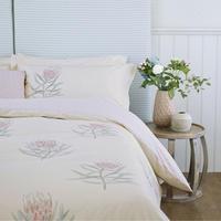 Protea Flower Duvet Cover Sea Pink