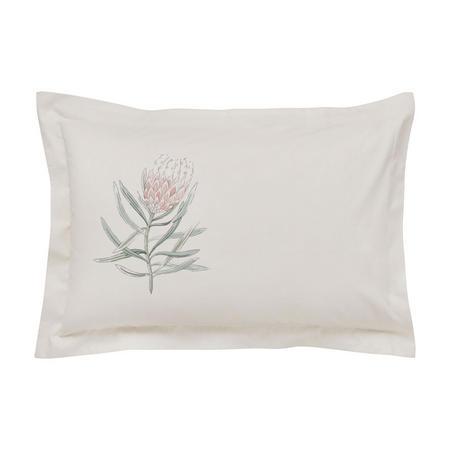 Protea Flower Oxford Pillowcase Sea Pink