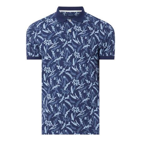 Wheat Print Piqué Polo Shirt