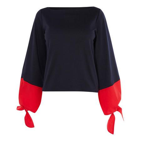 Wide-Sleeve Top
