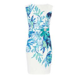 Sleeveless Floral Pencil Dress