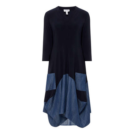 Denim Panel Dress
