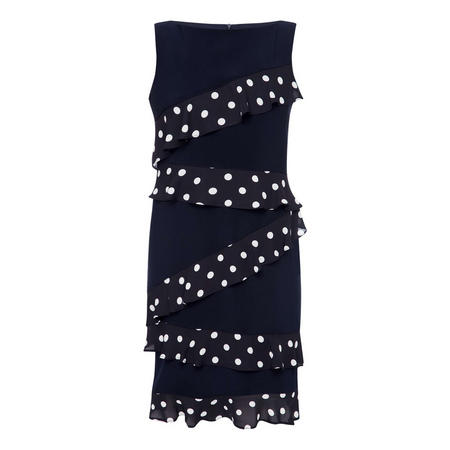 Frilled Polka Dot Trim Dress