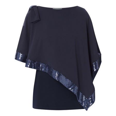Sequin Trim Tunic Top
