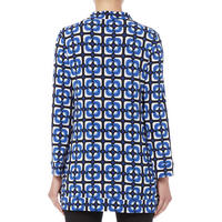 Square Print Long Sleeve Tunic