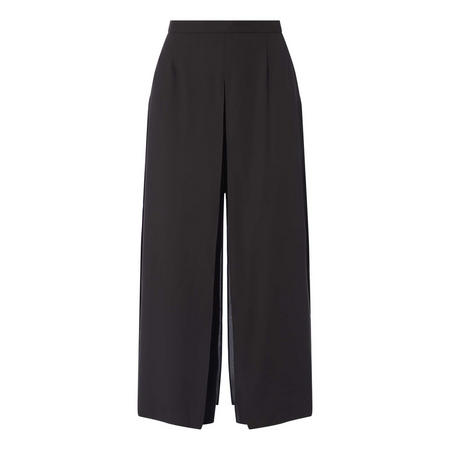 Draped Wide Fit Trousers