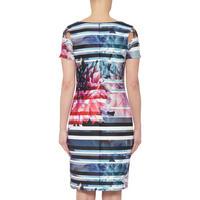 Striped Floral Dress